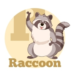 ABC Cartoon Raccoon3 vector image