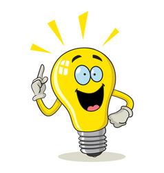 cartoon light bulb vector image vector image