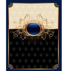 gold invitation frame or packing for elegant desig vector image vector image