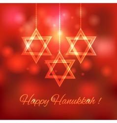 Happy Hanukkah blurred background vector image vector image