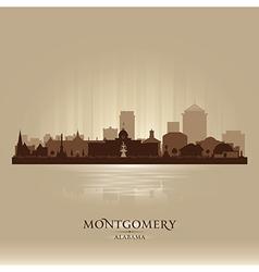 Montgomery Alabama city skyline silhouette vector image vector image
