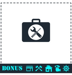 Toolbox icon flat vector image