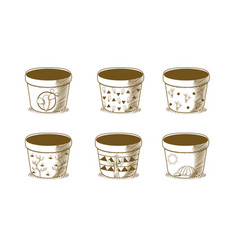 empty pot with desert design vector image