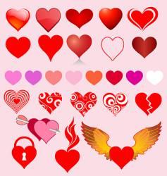 heart variants vector image vector image