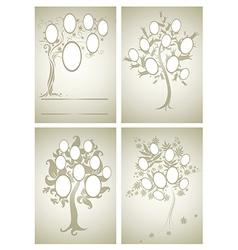 Set of family tree 2 vector