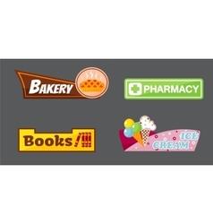 Shop signboard vector image