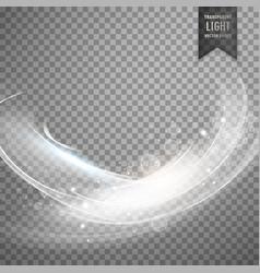 stylish white transparent light effect background vector image vector image