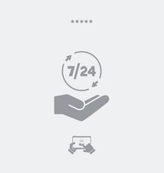 724 services - web icon vector image