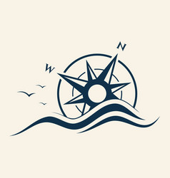 abstract design compass for element design vector image