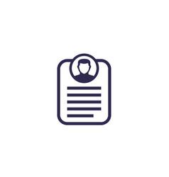 Account info profile personal data icon vector