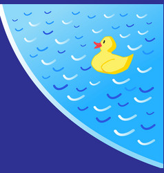 background pool with a yellow vector image