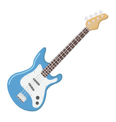 Bass guitar flat icon music and instrument vector