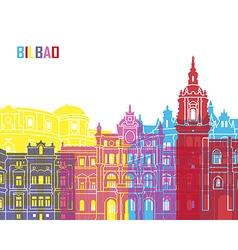 Bilbao skyline pop vector