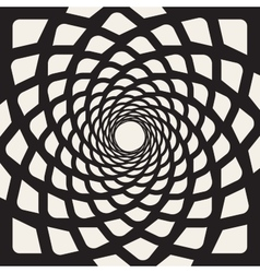 Black And White Rounded Lines Spiral Shape vector