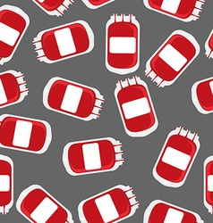 Blood bag seamless pattern Blood transfusion vector image