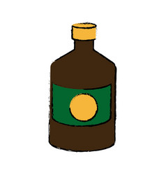 Bottle medicine pharmacy cross symbol vector