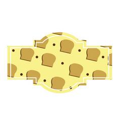 bread label design vector image