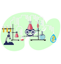 Business chemistry chemical reaction profits in vector