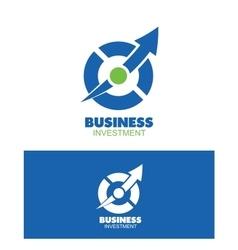 Business circle arrow logo design vector image
