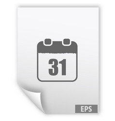 calendar simple icon vector image