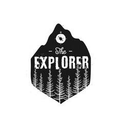 camping wildlife badge the explorer logo vector image