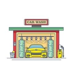 Car wash station vector image vector image