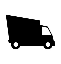 Cargo truck vehicle silhouette vector