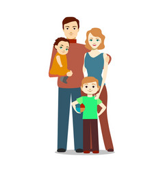cartoon family characters people vector image