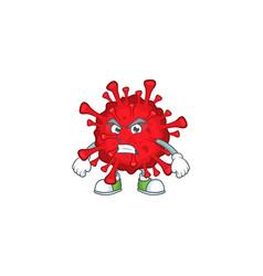 Charming dangerous coronaviruses waving hand vector