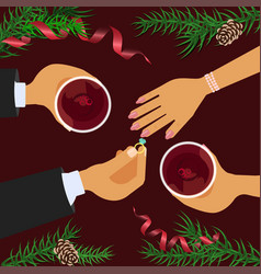 Christmas celebration and betrothal vector