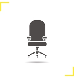 Computer chair icon vector