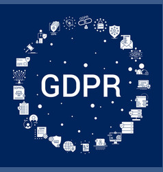 Creative gdpr icon background vector