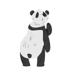 cute funny panda bear lovely wild animal cartoon vector image