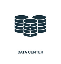 data center icon monochrome style design from big vector image