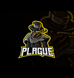 doctor plague mascot vector image