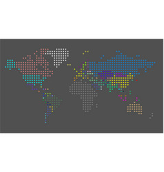 dotted world map a political map the vector image
