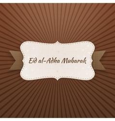 Eid al-adha mubarak realistic badge vector