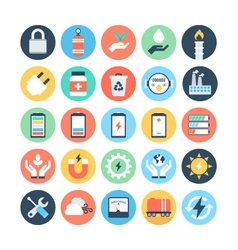 Energy and Power Colored Icons 5 vector image vector image