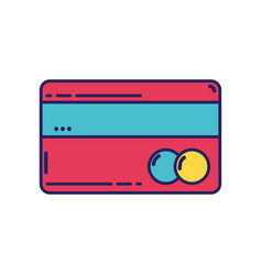 Finance electronic credit card business vector