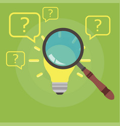 Find right idea cartoon management recruitment vector