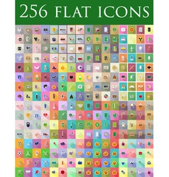 flat icons 12 vector image