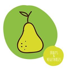 Fruits cute design vector