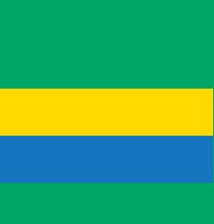 gabon flag flat vector image