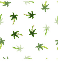 Geometric tropical palm tree seamless pattern vector