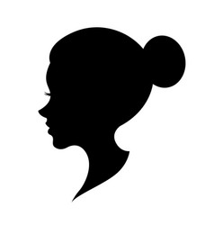 graphic head women vector image