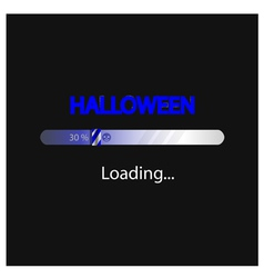 Halloween loading background vector