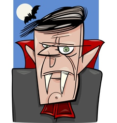 halloween vampire cartoon vector image