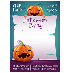 Happy halloween editable poster with smiling and vector