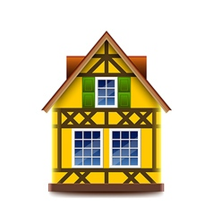 House in bavarian style isolated on white vector image