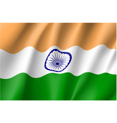 India flag flat style vector
